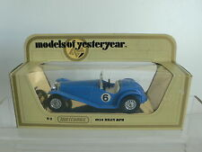 Matchbox Models Of Yesteryears 1934 Riley Sports Car  MINT Condition Y3