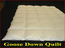 KING SIZE EUROPEAN GOOSE DOWN QUILT 4 BLANKET WARMTH DUVET 100% COTTON COVER