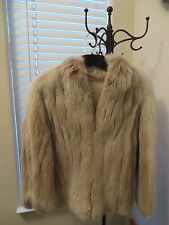 LAUER FURS CRYSTAL FOX BLONDE JACKET BOLERO *VINTAGE*
