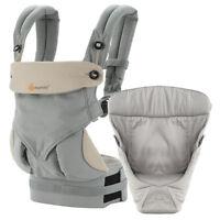 Ergobaby 4 Positionen 360 Von-Geburt-An Paket m. Easy Snug Babytrage Rückentrage