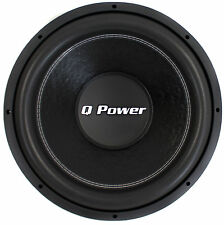 """Q-POWER QPF12 12"""" 3400W Deluxe Series Dual Voice Coil Car Audio Power Subwoofer"""
