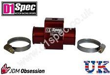D1 Spec jauge de température de l'eau Adaptateur tuyau conjointe capteur 30mm Rouge JDM racing