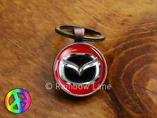 Handmade Mazda (2) Car Keychain Key Chain Case Key Ring Accessories Gift