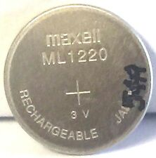 Brand New Maxell ML1220 Rechargeable 1220 3V CMOS Backup Battery
