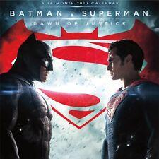 BATMAN VS SUPERMAN - 2017 MINI WALL CALENDAR - BRAND NEW - JUSTICE LEAGUE 871077