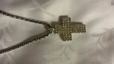 John Hardy Silver and Cubic Zirconia Cross Pendant Necklace Reduced Again