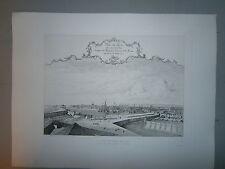 Gravure 19°  Vue du Havre en 1727 par Milcent