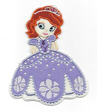 "7"" big PRINCESS SOFIA THE FIRST Disney Patches Iron/Sew On/Applique/Embroidered"