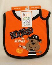 Halloween Carters Infant Hooked on Mommy Teething Bib & Pirate Puppy Plush NEW!