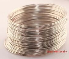 Wholesale 100/500loops Memory Steel Wire For Cuff Bangle Bracelet 0.6mm