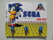 Sega SONIC THE HEDGEHOG 1993 Rare 3D PLASTIC PIN BADGES on SHOP CARD Pins Badge