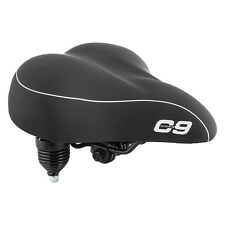 Sunlite Cloud-9 Bicycle Suspension Cruiser Multi-Stage Foam Bike Saddle Black
