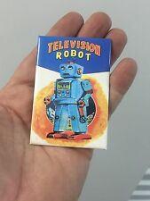 Choice Any One (1) Vintage Tin Toy Robot Refrigerator File Cabinet Magnet