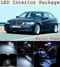 10X Xenon White SMD LED Interior Package + Tag Light For BMW 328i 335i M3 E90 KP