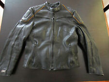 Vintage Esprit Black Cafe Racer Leather Motorcycle Jacket Euro Size 36 Small