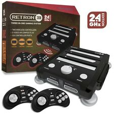 Retron 3 Gaming Console 2.4 GHz Edition (Onyx Black) SNES/ Genesis/ NES Vr2 TRI