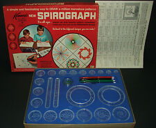 1967 Kenner's blue Spirograph art drawing tools/game COMPLETE+instructions