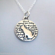 Cat Charm Necklace - 950 Sterling Silver - Handmade - Inspirational *NEW* Kitty