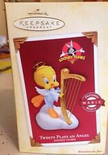 "Hallmark 2005 Keepsake Ornament ""Tweety Plays Angel"" In Box"