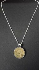 "Good Luck Pendant On 18"" Silver Plated Fine Metal Chain Necklace Gift N550"