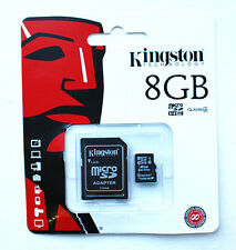 Kingston 8GB Micro SD SDHC Memory Card Flash Storage Mobile Adapter