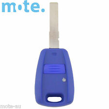 Fiat 1 Button Key Remote Replacement Case/Shell/Blank Punto Bravo Stilo Blue