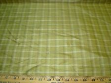 "~20 YARDS~100% SILK ""CROFT"" CHECKERED PLAID~DRAPERY UPHOLSTERY FABRIC FOR LESS~"