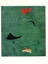 "1973 Vintage SURREALISM ""THE GENTLEMAN"" by JOAN MIRO COLOR Art Print Lithograph"
