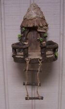 Garden Accent Fairy or Gnome Hanging Tree House NEW with rope ladderl