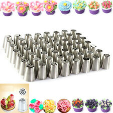 56Pcs Russian Flower Icing Piping Nozzles Cake Decoration Tips Baking Tools kit