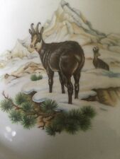 German Porcelain Winterling Marktleuthen Plate With Painted Mounted Goats