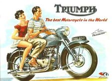 TRIUMPH THUNDERBIRD BRITISH CLASSIC VINTAGE OLD STYLE MOTOR BIKE METAL SIGN