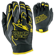 M Medium Metal Mulisha Scout MX Gloves Motorbike Black Yellow Suzuki