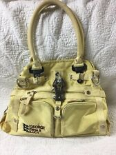 """ GG& L"" GEORGE GINA & LUCY DoYouThing Handbag- Industrial Hardware - Yellow"