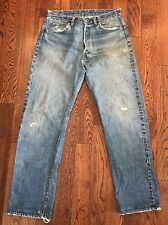 Vintage Big E Levi's 501 Hidden Rivet Redline Denim Jeans - 35 X 31.5