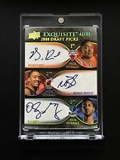 2007 Exquisite 2008 Draft Picks Derrick Rose Michael Beasley Oj Mayo Triple Auto