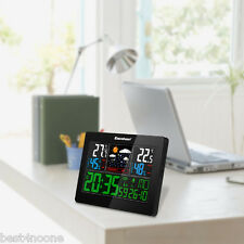 EXCELVAN COLOR Wireless Weather Station Forecast Temperature Humidity In/Outdoor