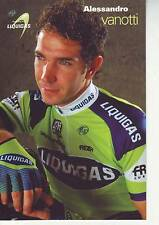 CYCLISME carte cycliste ALESSANDRO VANOTTI équipe LIQUIGAS 2007