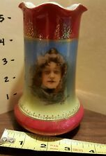 "ANTIQUE RS PRUSSIA PORTRAIT VASE 5.5"" Tall WOW!!!!"