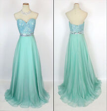 Jovani Turqouise Strapless Sweethear Embellished Prom Evening Dress Sz 2 NWT