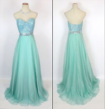 Jovani Turqouise Strapless Sweethear Embellished Prom Evening Dress Sz 4 NWT