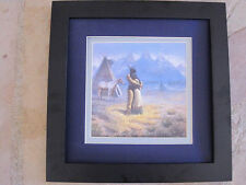 Gregory Perillo Lovers (The Marriage)  framed matted print poem  Carol Wood