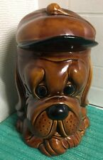 P&K Brown Droopy Dog Biscuit Barrel Storage Jar Large Vintage