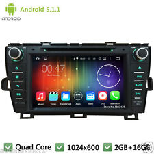 Quad core Android 5.1 Car DVD Player Radio GPS Navi For Toyota Prius LHD 2009-15