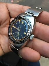 Diver Automatic BRITSCAR Shell Star World Time Crown Broken Working For Parts