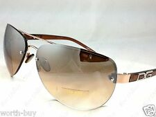 New DG Eyewear Mens Womens Sunglasses Shades Fashion Designer Gold Brown Pilot 7