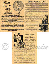 Set of 3 Weight Loss Spells Book of Shadows Pages, Wicca, Witchcraft, Wiccan