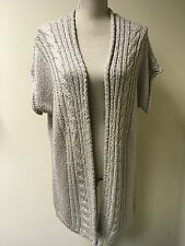 Grey Long Knitted Women Cardigan Plus Size XXL (22-24) (39)