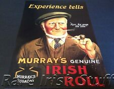Rare Murray's Old Irish Pipe Tobacco Advertising Poster - Aye, By Gum its Fine!