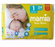 Aldi Mamia New Born Size 1 Nappies 144 Pack 2-5kg/4-11lbs 6x 24 Pack Anti Leak
